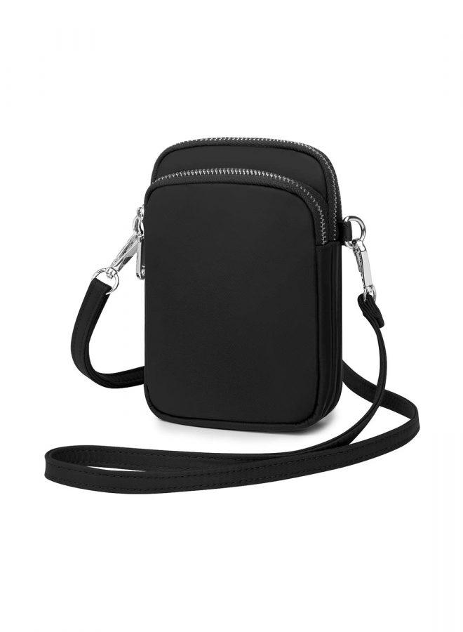 bolsos bandolera mujer, bandoleras mujer originales, bolso negro bandolera, con varios compartimentos, organización, tamaño cómodo
